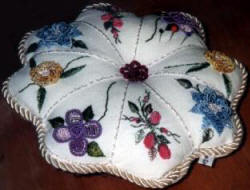 Victorian Pin Cushion Brazilian Embroidery Design