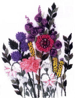 Columbine andMascari Brazilian Embroidery Design