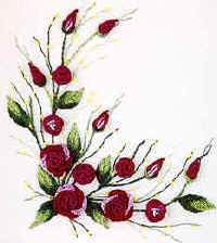 ROSES FOR TESS- Brazilian dimensional embroidery pattern BL110