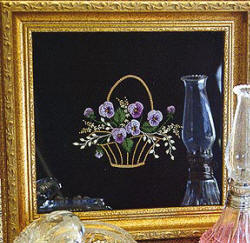 Brazilian Embroidery From Blackberry Lane PANSY PANSY BASKET By Delma Moore BL 130