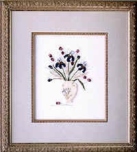 IRIS ARRANGEMENT- Brazilian dimensional embroidery pattern