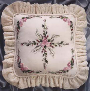 Brazilian Embroidery From Blackberry Lane SPRING CUSHION By Delma Moore BL 135
