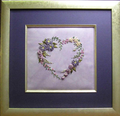 Brazilian Embroidery Design  Flower Heart
