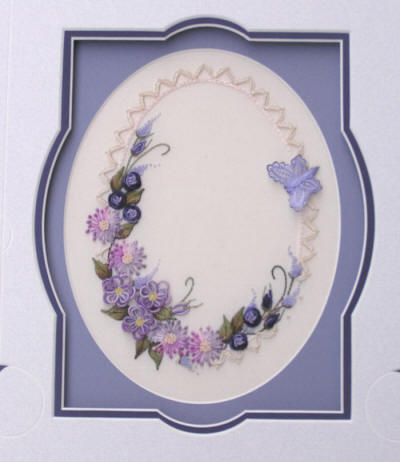 Lavender and Lace Brazillian Embroidery Pattern