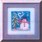 Winter Buddy - design on interfacing for punch needle embroidery