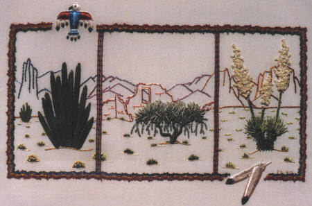 Cactus Trilogy, Brazilian Embroidery pattern DK3813