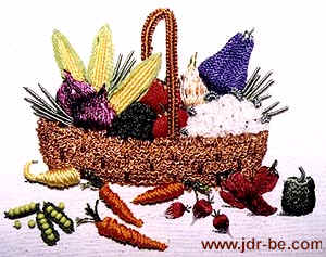 A Basket of Veggies Brazilian Embroidery  pattern
