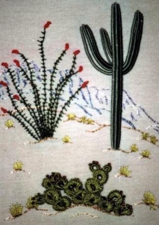 DK3804 Cactus Trio Brazilian Embroidery Design