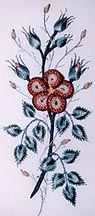 My Favorite Wild Rose  Brazilian Embroidery pattern