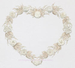 Brazilian Embroidery Design Wedding Wreath ED 1019