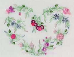Brazilian Embroidery Design -Carol's Heart