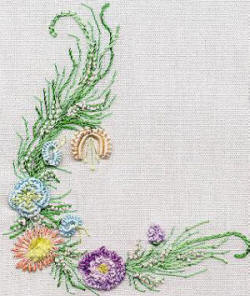 Small Sampler Brazilian dimensional embroidery pattern