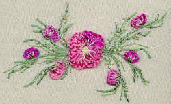Peach Blossom  - Brazilian dimensional embroidery pattern