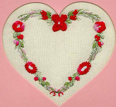 Brazilian Embroidery Design  Country Heart ED 1514