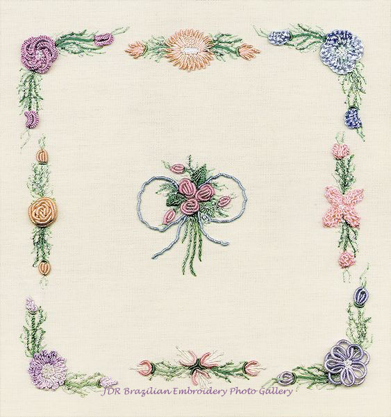 Embroidery flower pattern project ribbon «
