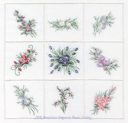 Brazilian Embroidery Design  Spring Sampler