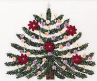 Christmas Tree-Brazilian dimensional embroidery