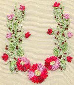 Gerone Daisies - Brazilian dimensional embroidery pattern