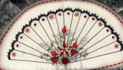 Brazilian Embroidery Pattern Fan Of Elegance