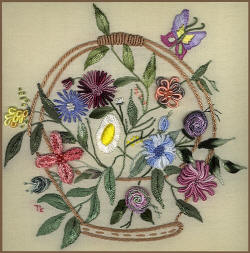 Garden Sunshine Brazilian Embroidery Design