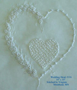 JDR 116 Brazilian Embroidery Wedding Heart
