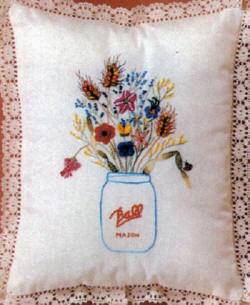 Brazilian Embroidery Pattern  Mason-Ball Jar