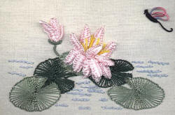 Brazilian Embroidery Pattern  Water Lily