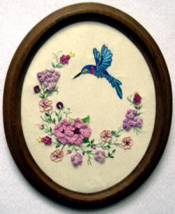 Brazilian Embroidery Pattern Humming Bird
