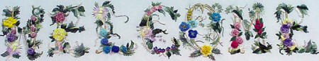 JDR 146 Welcome Sign Brazilian Embroidery Pattern