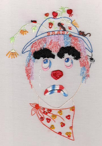 JDR 165 Brady The Clown in Brazilian Dimensional Embroidery