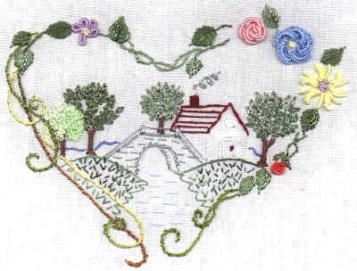 Brazilian Embroidery Design Old Stone Bridge JDR 181