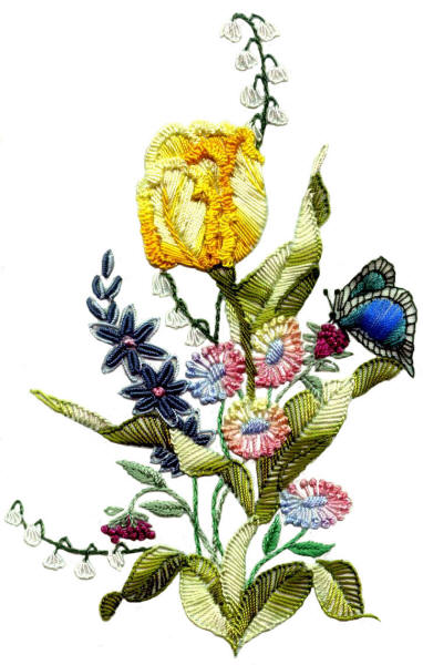 Brazilian Embroidery Pattern Tulip Jdr 331