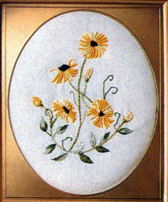 Brazilian Embroidery Pattern Fancy Bullion Daisy Jdr 332