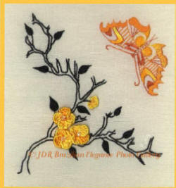 Brazilian Embroidery Design: Butterfly