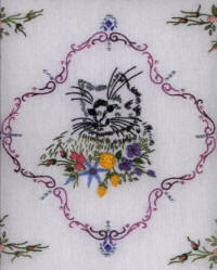 Brazilian Embroidery Pattern, Momma Cat In The Field, JDR6008