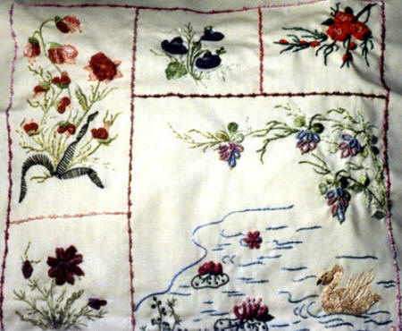 Brazilian Embroidery Pattern, Swan Song, JDR 6010