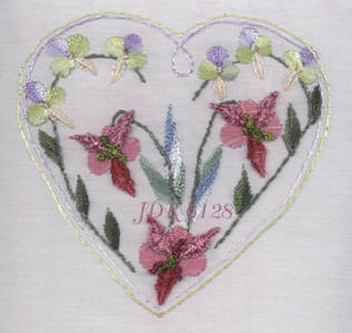 JDR 6128 Anita�s Wood Orchid Brazilian Dimensional Embroidery Pattern