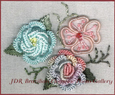 Brazilian Embroidery Sampler Block 5
