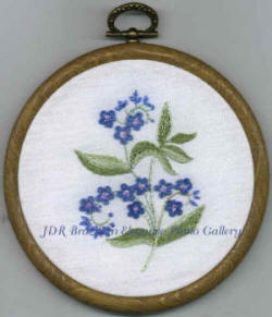 Brazilian Embroidery Design Forget-me-knots
