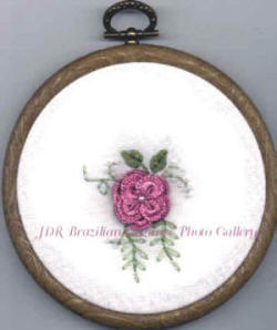 Sunshine's Treasures 18 Old French Rose Brazilian Embroidery Design