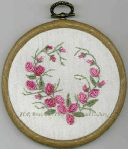 Rosie The Rolled Rose Brazilian Embroidery Design