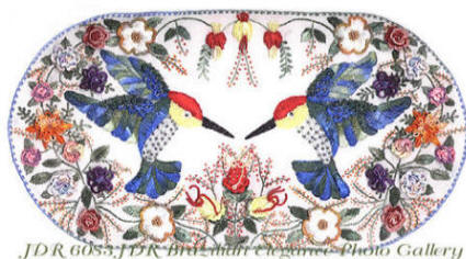 Mirrored Images -Brazilian Dimensional Embroidery pattern.
