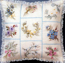 Brazilian Embroidery Pattern  Ellen's Beginning Pillow