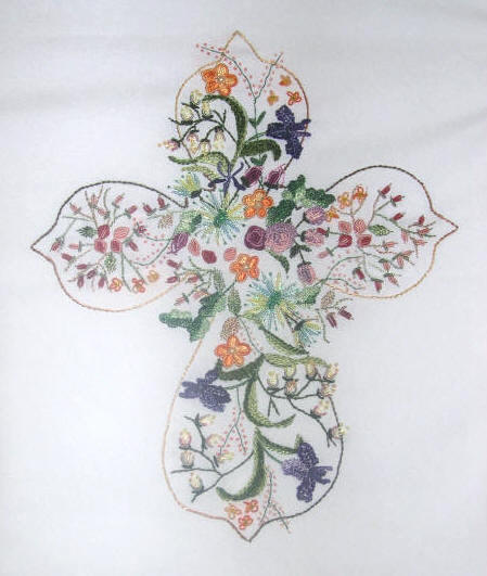 "JDR 6219 ""He Lives"" Brazilian Dimensional Embroidery Pattern"