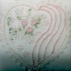 Stylized Heart for Your Valentine Brazilian Dimensional Embroidery pattern