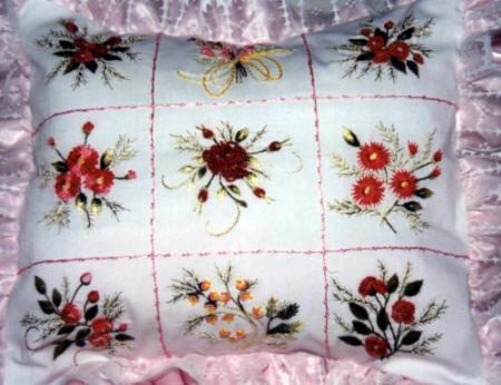 Beginner Pillow 9 Square Brazilian Embroidery