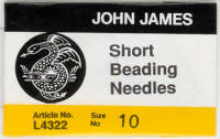 John James Short Beading #10 Needles