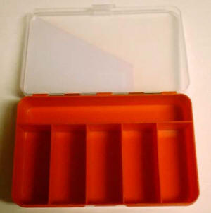 6 Compartment Plastic Mini Storage Container