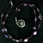 Purple Beaded Chatelaine