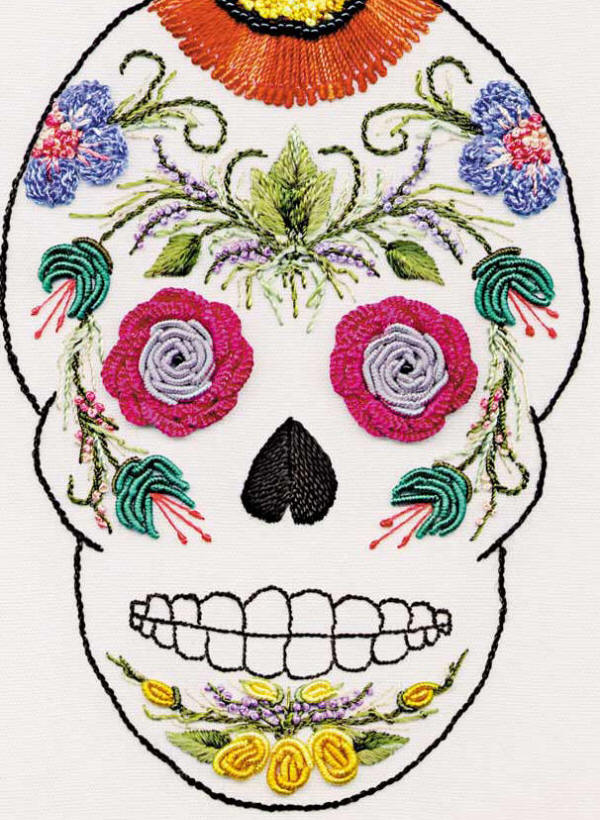 Brazilian Embroidery Design Ed1301 Skull Pattern